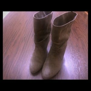 Gray express boots